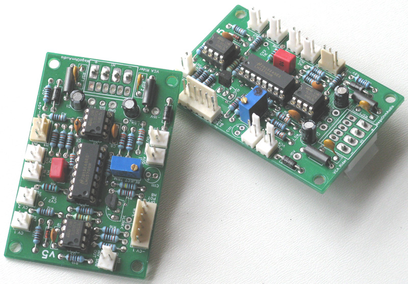 VCA Rider boards fully assembled.