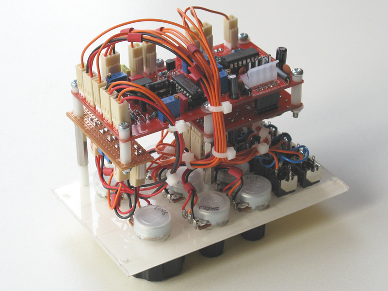 Re-paneled TH X-4046 oscillator viewed from the back